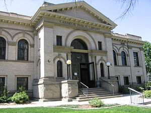 The Carnegie library in Boise, Idaho.