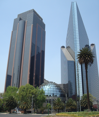Business - Mexican Stock Exchange in Paseo de la Reforma, Mexico City