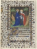Boucicaut Master - Leaf from a Book of Hours- The Visitation - 1953.366.1 - Cleveland Museum of Art.tif
