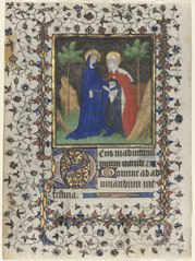 Leaf from a Book of Hours: The Visitation (1953.366.1)
