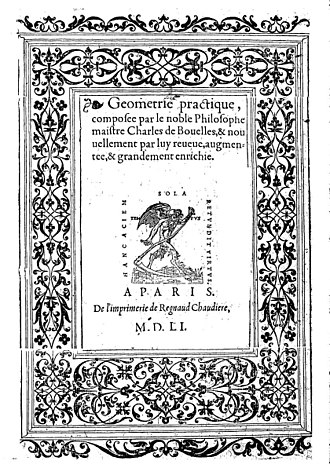 Charles de Bovelles - Geometrie practique, 1551