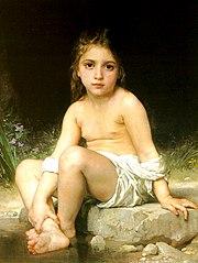 Enfant au bain