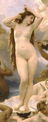 O Nascimento de Vénus, de Bouguereau