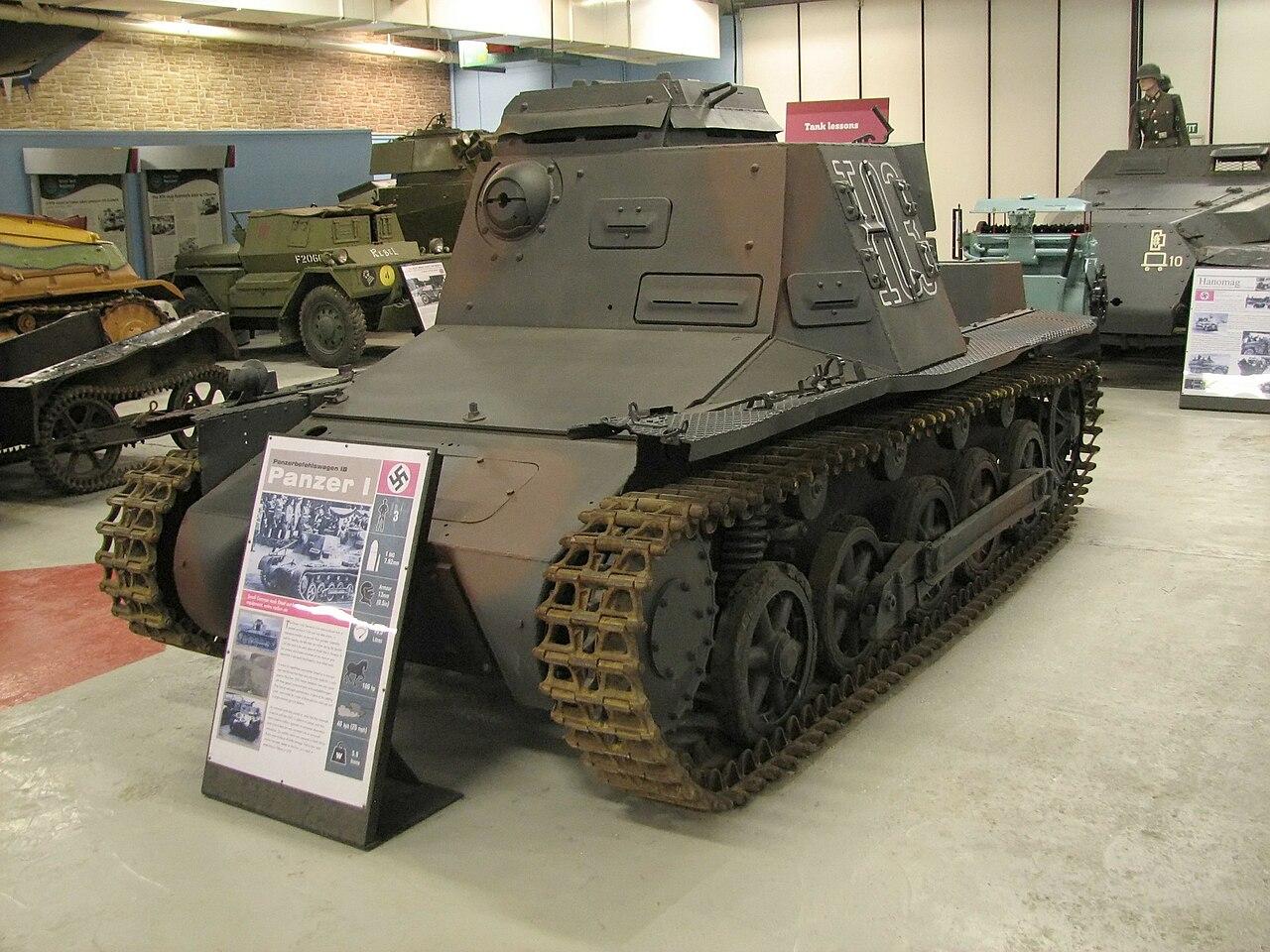 Panzerbefehlswagen I en el museo de carros de Bovington. Fuente: Wikipedia.