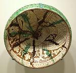 Bowl with fantastic bird, Garrus ware, Iran, Garrus district, Seljuk period, 12th or 13th century AD, earthenware with carved and painted slip design under glaze - Cincinnati Art Museum - DSC03987.JPG