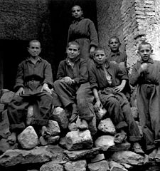 Boys at the Albergo dei Poveri reformatory, Naples 1945.jpg