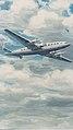 Bozzetto pubblicitario dell'aereo quadrimotore Breda BZ 308, 1948 - san dl SAN IMG-00002299.jpg