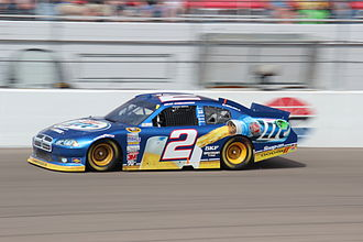 Miller Lite - The Miller Lite car in 2012. The car's current driver, Brad Keselowski, won the Sprint Cup Series title that same year.