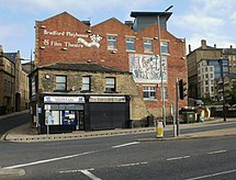 Bradford Playhouse shown from Leeds Road