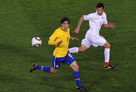 Brazil's Kaka against Chile at the 2010 FIFA World Cup in South Africa Brazil & Chile match at World Cup 2010-06-28 6.jpg