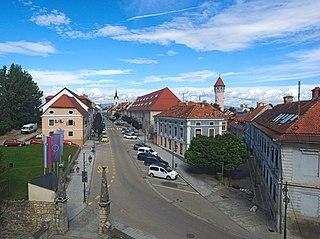 Brežice Place in Styria, Slovenia
