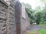Brecon Line of Town Wall at Captains Walk.JPG