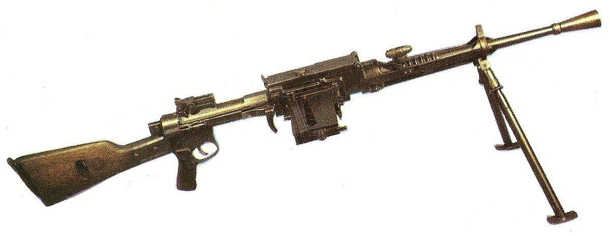 la machine guns