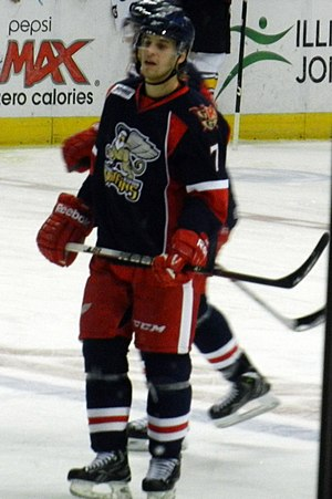 Brendan Smith (ice hockey) - Smith playing with the Grand Rapids Griffins