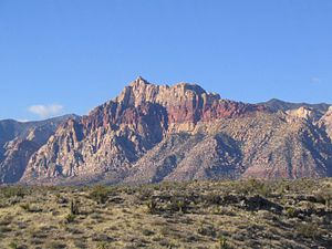 Bridge Mountain - Bridge Mountain from the Red Rock Canyon Overlook