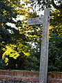 Bridleway fingerpost Little Easton Essex England.jpg