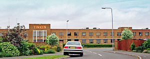 Duston - British Timken offices and works in Northampton, England in 2001 prior to demolition a few years later