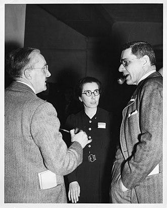 Dorothy Garrod - Garrod at the International Symposium on Early Man, Philadelphia, March 1937