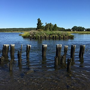 Somerset, Massachusetts - Broad Cove, an inlet of the Taunton River, is located at the northern end of Somerset.