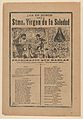 Broadsheet with a song relating to the Holy Virgin of Solitude (Stma. Virgen de la Soledad) MET DP868036.jpg