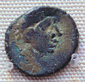 Bronze imitation of Roman coin Sri Lanka South India 4th to 8th century CE.jpg