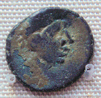 History of Sri Lanka - Bronze imitation of a Roman coin, Sri Lanka, 4–8th century CE.