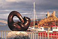 Bronze otter sculpture Kyleakin Isle of Skye by sculptor Laurence Broderick.jpg