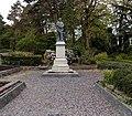 Bronze statue on a pedestal in Aberdare Park, Aberdare (geograph 3966903).jpg