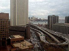 Ramp from the Brooklyn Bridge to FDR Drive, completed circa 1969