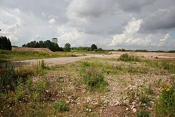 English: Brownfield site Development land near...