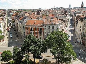 Saint-Gilles, Belgium - Image: Brussels panorama (9376295145)