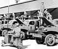 Buckingham Army Airfield - motor pool of machine gun target training trucks 1944.jpg