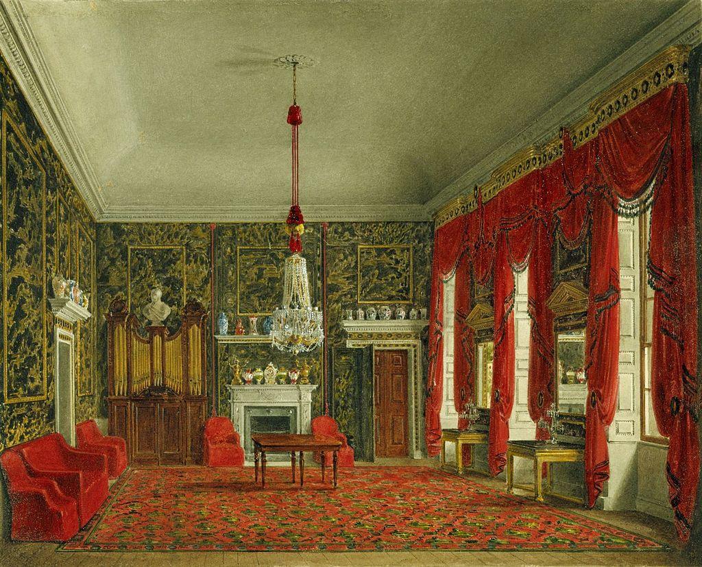 Букингемский дом, зал для завтрака королевы, Джеймс Стефанофф, 1817 - королевский колл 922145 257076 ORI 0.jpg