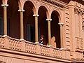 Buenos Aires - Monserrat - Granadero en balcón de la Casa Rosada.jpg