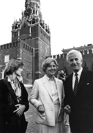 Richard von Weizsäcker - Weizsäcker, his wife Marianne and daughter Beatrice in Moscow, 1987