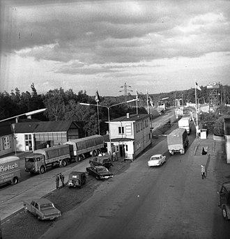 Bundesautobahn 2 - Border crossing at Helmstedt in 1967