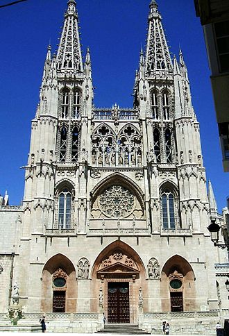 Burgos Cathedral - Facade of Saint Mary.