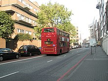 Bus heading northwards up Mansell Street - geograph.org.uk - 1008833.jpg