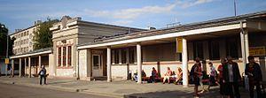 Bus station in Jelgava, Latvia