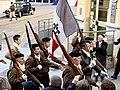 Cérémonie du 70e anniversaire du défilé du 11 novembre 1943 à Oyonnax - drapaud.JPG