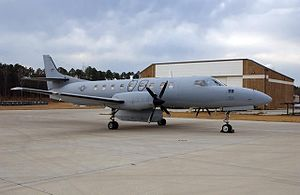 Fairchild C-26 Metroliner - An RC-26B sits at Jacksonville ANG Base in February 2005.