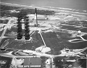 Cape Canaveral Air Force Station Launch Complex 34 - LC-34 with Saturn I rocket SA-4 on 28 March 1963