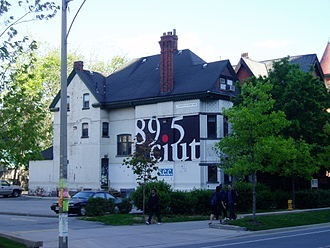 CIUT-FM - The old headquarters of CIUT-FM at 91 St. George Street, opposite Robarts Library