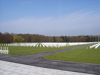 Ardennes American Cemetery and Memorial - Headstones at the cemetery