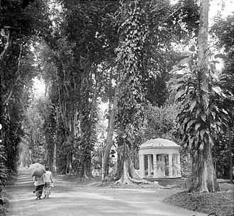 Bogor Botanical Gardens - Memorial of Lady Raffles in 1915.