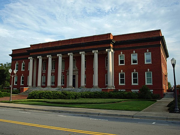 Sikes Hall is the principal administration building of Clemson. CU Sikes Hall Aug2010 01.jpg