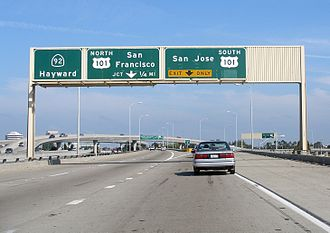 California State Route 92 - The freeway segment of SR 92 in San Mateo