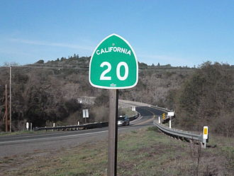 California State Route 20 - Marker along California State Route 20.
