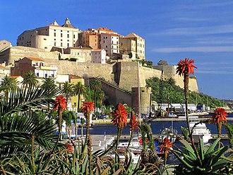 Calvi, Haute-Corse - View  of the citadel