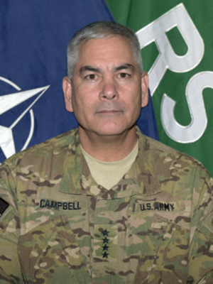 John F. Campbell (general) - Campbell in 2015, as the commander of the Resolute Support Mission and United States Forces – Afghanistan